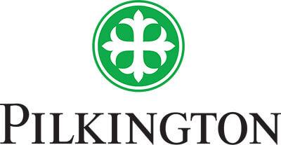 zeigt das Logo von Pilkington